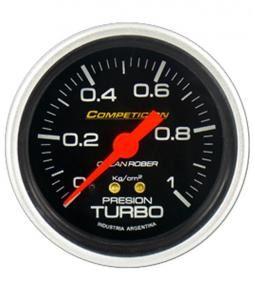 Manómetro de turbo mecánico linea competición 60mm