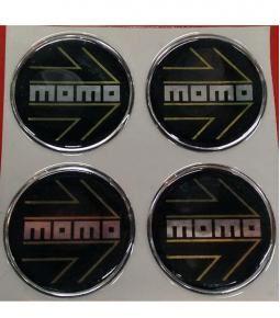 Centros de llanta Momo negro 49mm en resina