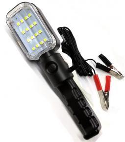 Portátil LED SMD - 12V con imán y colgante - Con pinzas para batería