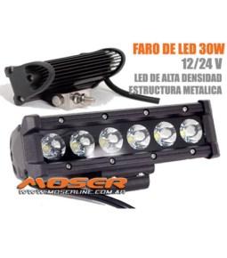 Faro LED 30W Barra rectangular