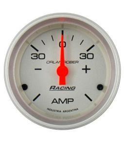 Amperimetro 30-0-30 racing plata